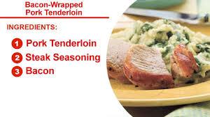 thanksgiving pork loin bacon wrapped pork tenderloin recipe myrecipes
