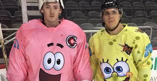 feast your eyes on these amazing spongebob squarepants hockey