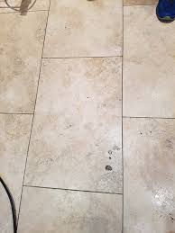 removing wax and polishing travertine tiles cleaning and
