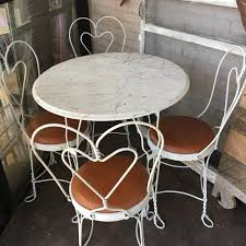 ice cream table and chairs best vintage marble top ice cream table for sale in mountain brook