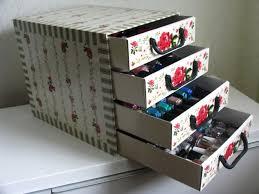nail polish organizer storage cute nail polish organizer box