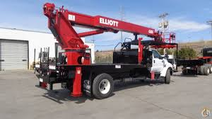 2016 elliott g85r sign truck for sale crane for sale in