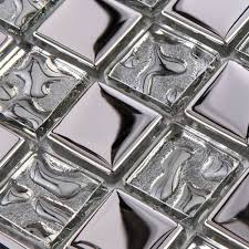 silver metal pattern square discount bathroom shower decor crystal