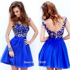 com buy lace royal blue short prom dress cap sleeves red