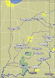 Indiana waterfalls images Map of indiana waterfalls jpg
