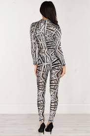 sleeve sequin jumpsuit sleeve sequin jumpsuit in silver and black