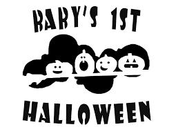 baby s 1st pumpkin stencil baby
