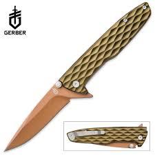 gerber one flip pocket knife green budk com knives u0026 swords