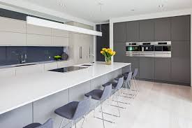 image result for modern grey and white kitchen interior design