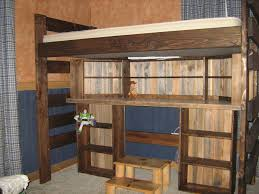 full size loft bed with desk and storage bunk beds armless wooden