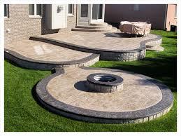 Backyard Cement Patio Ideas Stamped Concrete Patio Ideas