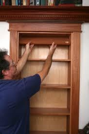 Bookcase With Lock Hidden Pivot Bookcase Installation Thisiscarpentry