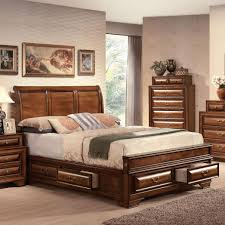 Queen Bed With Storage Acme Furniture Konane Traditional Sleigh Queen Bed W Storage