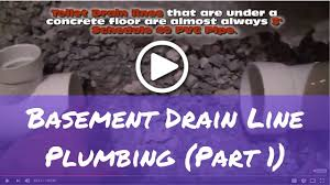 how to plumb basement bathroom drain lines part 1 youtube