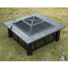 Metal Firepit Outsunny Square Outdoor Backyard Patio Metal Firepit 32 Inch