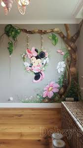 minnie mouse hand painted wall mural www custommurals co uk baby minnie mouse muurschildering
