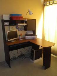Computer Desk In Walmart Mainstays L Shaped Desk With Hutch Walmart Com