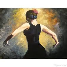 spanish home decor store handmade spanish art paintings proud flamenco dancer oil on canvas