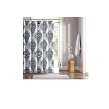 Themed Fabric Shower Curtains Bohemian Shower Curtain Silver White Black Damask Shower