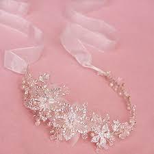 ribbon hair bands buy wholesale luxury beaded flower hair band pearl silver