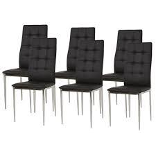 m chaises deborah lot de 6 chaises de salle à manger pieds métal chromé