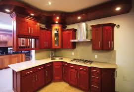 Cream Shaker Kitchen Cabinets Alluring Red Cherry Wood Shaker Kitchen Cabinets Come With Cream