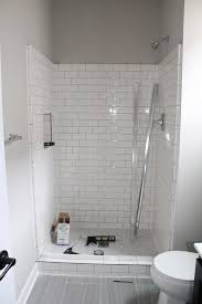 Small Black And White Tile Bathroom Shorewood Mn Bathroom Remodels White Subway Tile Shower Subway