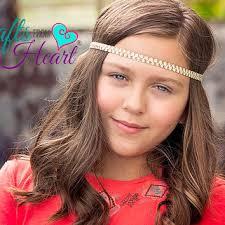 forehead headband ivory gold boho headband boho headband from pacraftsfromthehear