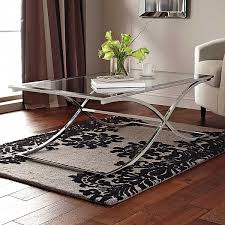 Chrome And Glass Coffee Table Decorating With Chrome Furniture