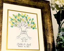 deku tree thumbprint tree guestbook for a zelda wedding u2013 arcadia