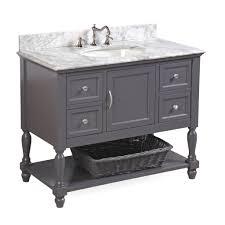 beverly 42 inch vanity carrara charcoal gray u2013 kitchenbathcollection