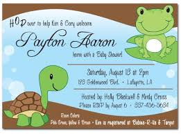 frog baby shower boy frog turtle baby shower invitation