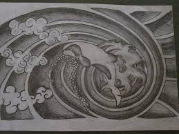 Japanese Designs Japanese Style Dolphin Pencil Sketch By Tattooeddnbhead On Deviantart
