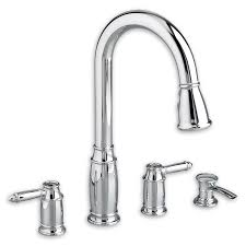 Kitchen Faucets With Soap Dispenser Wynston Pull Down High Kitchen Faucet With Soap Dispenser
