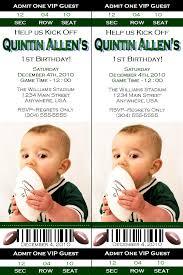football birthday ticket invitation when i have a baby boy awd