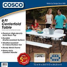 cosco 6 centerfold table cosco 6 centerfold table multiple colors walmart com