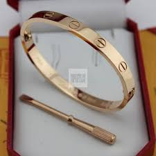 bracelet love price images Low price cartier love bracelet pink gold plated real with jpg