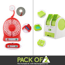rechargeable fan online shopping pack of 2 mini portable ac with rechargeable fan shopping in pakistan