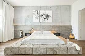chambre lambris bois tête de lit en bois blanchi pour une déco originale