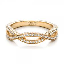 band gold custom yellow gold and diamond wedding band 100854