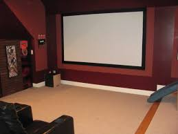 black ceiling red walls home theater ceilings and room with