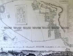 Pompeii Map 5 170 Pompeii Street Map By S D U K C 1844 Brighton Antique