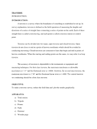 land survey report template complete traverse report surveying electromagnetic radiation