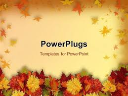 powerpoint template and thanksgiving theme with