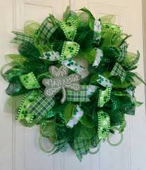 s day wreaths st s day wreath deco mesh by wreathsbydesign1 on etsy st