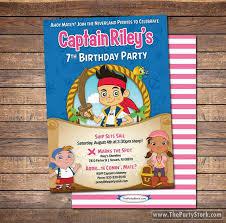 jake neverland pirates invitations printable girls