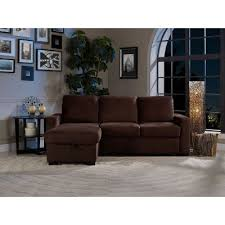 Serta Chester Convertible Sectional Sofa Bed RC Willey Furniture - Brown sofa beds