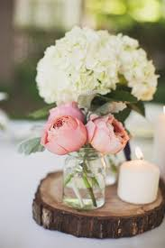 White Roses Centerpieces by Pink Peony And White Hydrangea Centerpieces Photo Revival