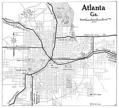 Atlanta Maps by Georgia City Maps At Americanroads Com