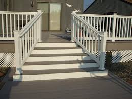 Deck Stairs Design Ideas Exteriors Carming Wooden Front Deck Steps Design Ideas Feat